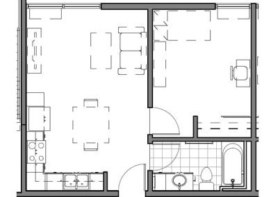 1 BEDROOM UNIT – E