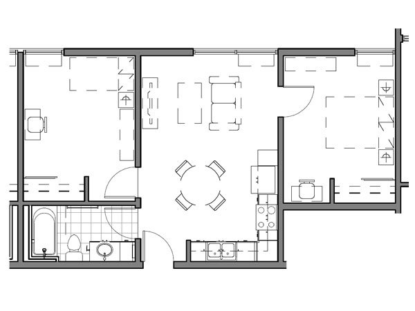 2 BEDROOM UNIT – D-1