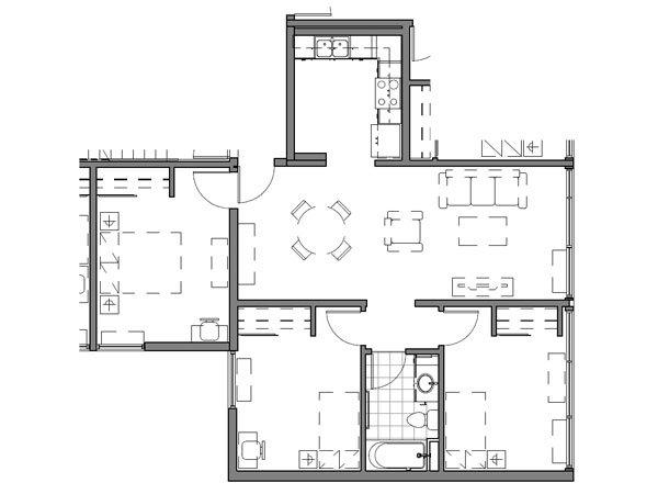 3 BEDROOM UNIT – B2